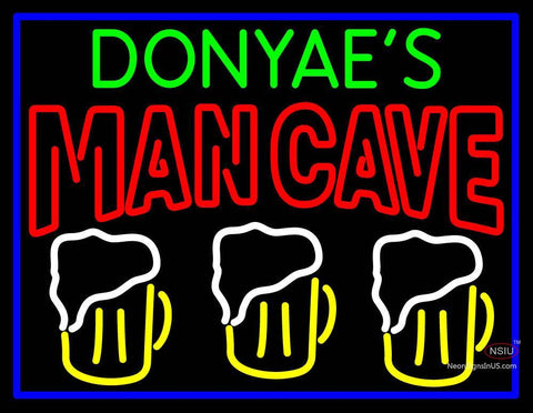 Custom Donyae Man Best Friend Beer Glasses Man Cave Neon Sign