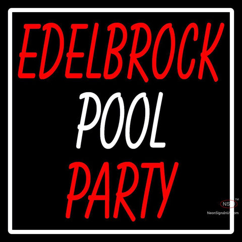 Custom Edelbrock Pool Party Neon Sign