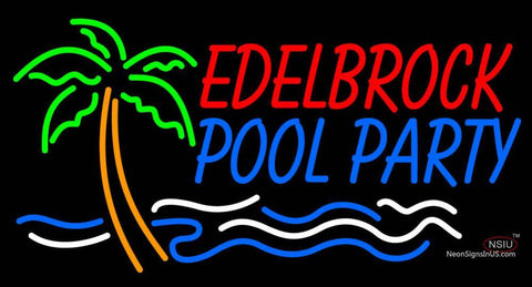 Custom Edelbrock Pool Party With Palm Tree And Wave Neon Sign
