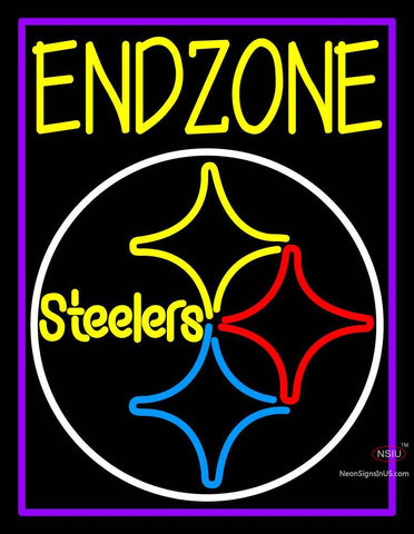 Custom Endzone Steelers Logo Neon Sign
