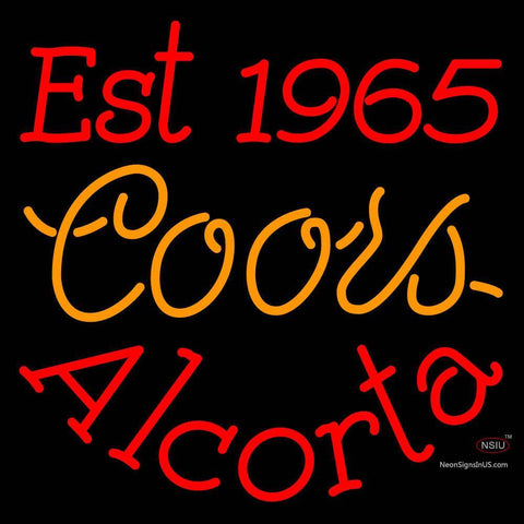 Custom Est  Alcorta Neon Sign