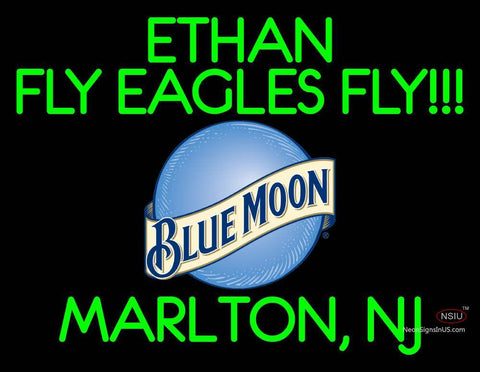 Custom Ethan Fly Eagles Fly Neon Sign