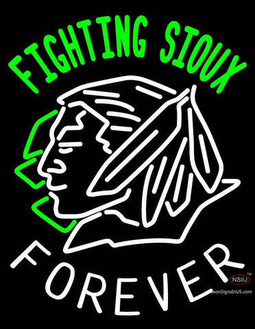 Custom Fighting Sioux Forever Logo Neon Sign
