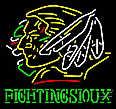 Custom Fighting Sioux Neon Sign