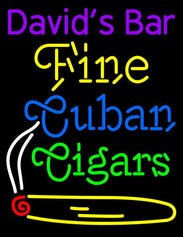 Custom Fine Cuban Cigars Neon Sign
