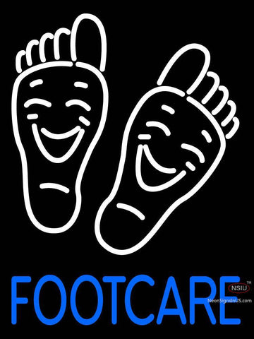 Custom Footcare Logo Neon Sign