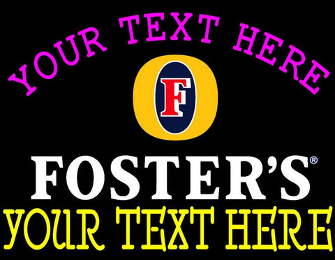 Custom Fosters Neon Beer Sign