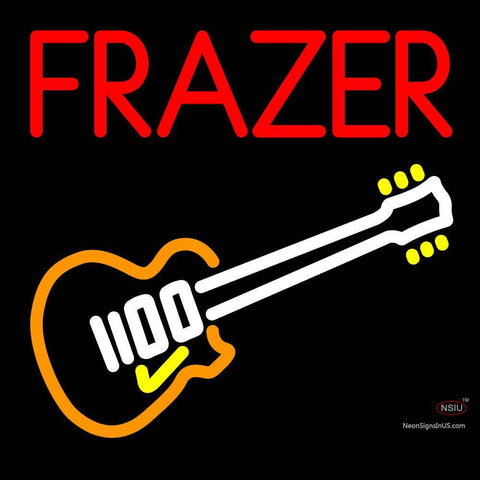 Custom Frazer With Guitar Logo Neon Sign