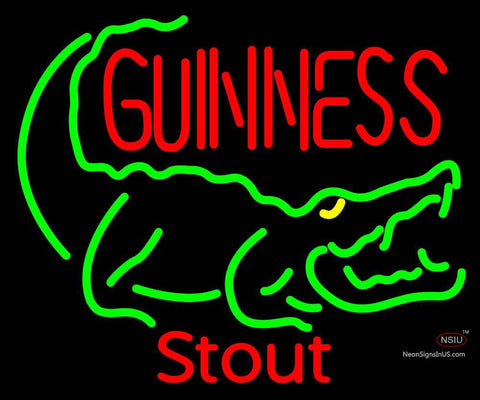 Custom Guiness Lager Crocodile Neon Sign