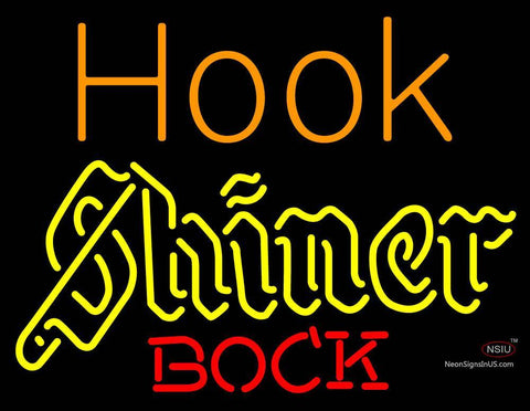 Custom Hook Shiner Bock Neon Sign