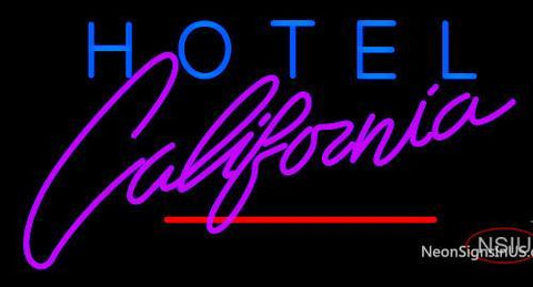 Custom Hotel California Neon Sign