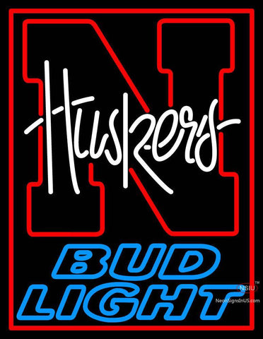 Custom Huskers Bud Light Logo Neon Sign