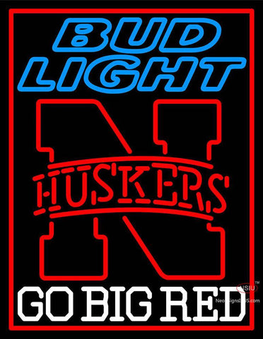 Custom Huskers Bud Light Logo Neon Sign 7