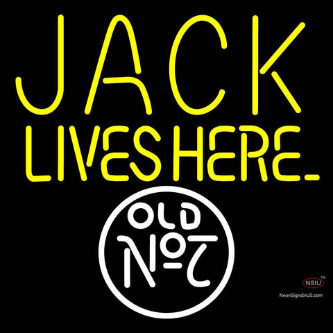 Custom Jack Lives Here Old No 7 Neon Sign