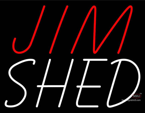 Custom Jim Shed Neon Sign