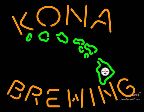 Custom Kona Brewery Fire Rock Heybeerman Neon Sign