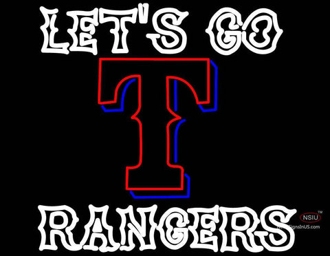 Custom Lets Go Rangers Neon Sign