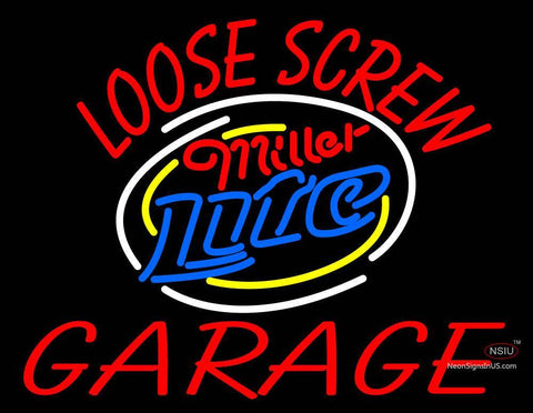 Custom Loose Screw Garage Logo Neon Sign