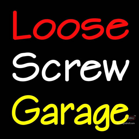 Custom Loose Screw Garage Logo Neon Sign 7