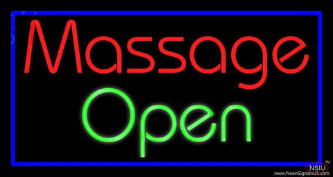 Custom Massage Open Real Neon Glass Tube Neon Sign