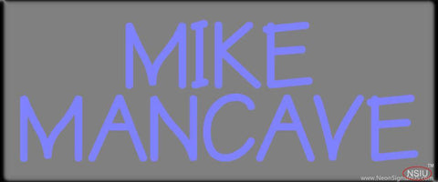 Custom Mike Mancave Real Neon Glass Tube Neon Sign
