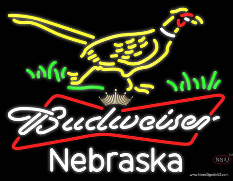 Custom Pheasant Budweiser Tie Crown Neon Sign