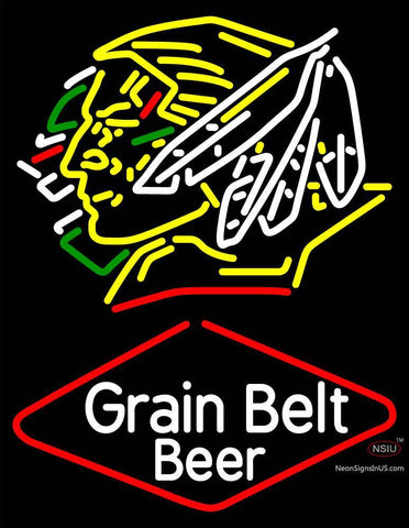Custom Grainbelt Fighting Sioux Neon Sign