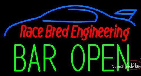 Custom Race Bred Engineering Bar Open Neon Sign