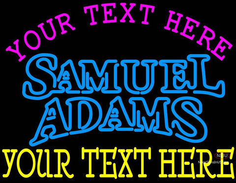 Custom Samuel Adams Double Line Neon Beer Sign