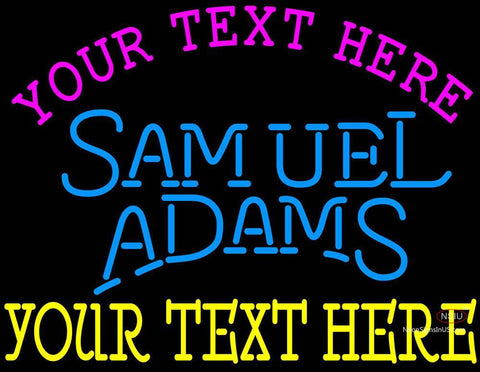 Custom Samuel Adams Single Line Neon Beer Sign
