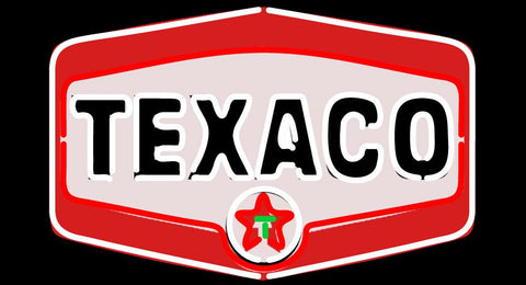 Texaco Gasoline Logo Neon Sign