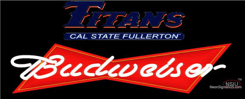 Custom Titans Cal State Fullerton With Budweiser Neon Sign
