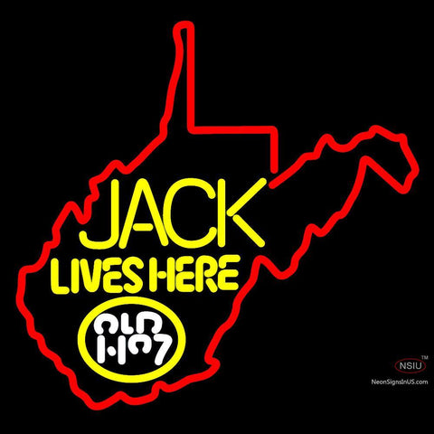 West Viginia Jack Lives Here Neon Sign 1