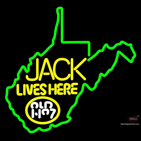 West Viginia Jack Lives Here Neon Sign 2