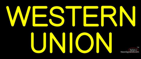 Custom Western Union Neon Sign