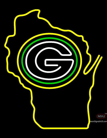 Custom Wisconsin Stat Green Bay Packer Neon Sign