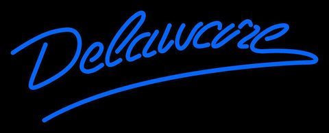 Delaware Blue Hens Wordmark  Pres Logo NCAA Neon Sign