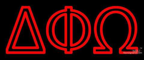 Delta Phi Omega Neon Sign