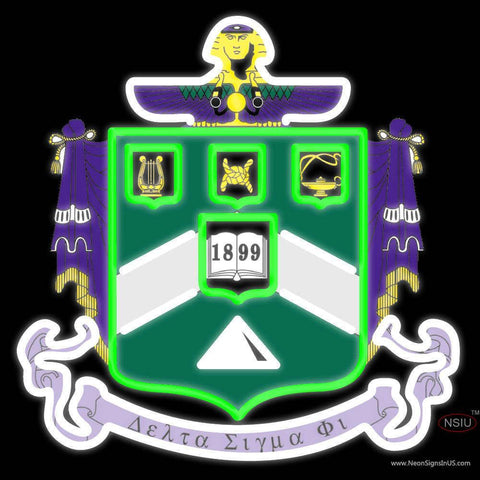 Delta Sigma Phi Chapters Logo Neon Sign
