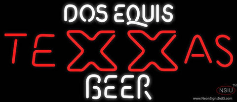 Dos Equis Texas Neon Beer Sign