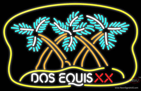 Dos Equis Xx Palm Tree Neon Beer Sign