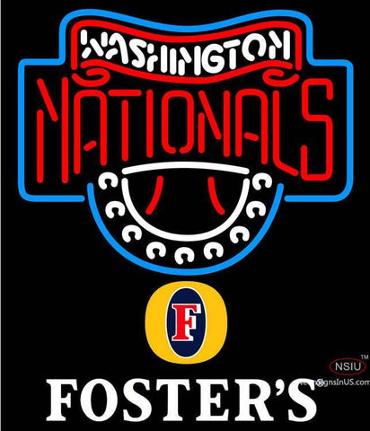 Fosters Washington Nationals MLB Neon Sign