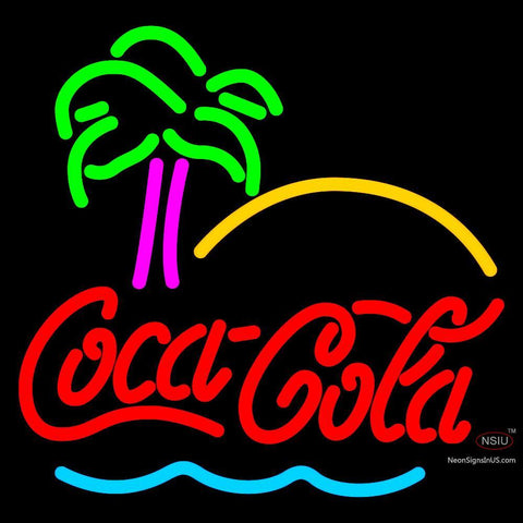 Ge Coca Cola Tree Neon Sign x