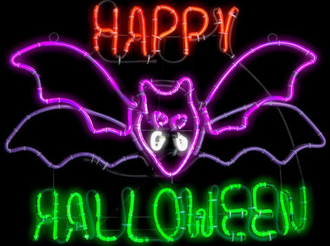 Happy Halloween Handmade Art Neon Sign