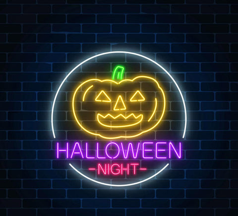 Halloween Night Handmade Art Neon Sign