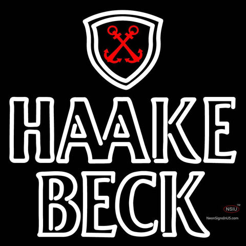 Haake Becks Logo Neon Sign