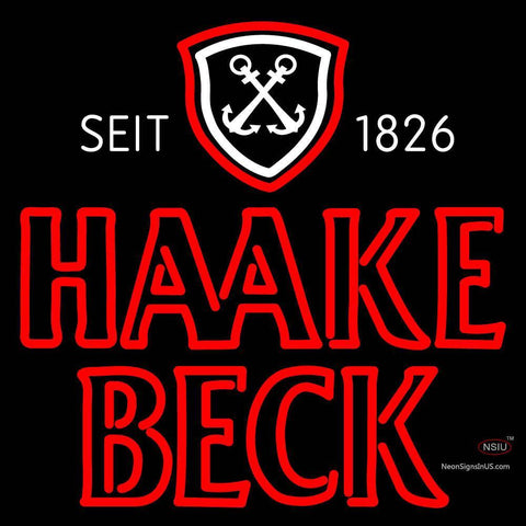 Haake Becks Neon Beer Sign