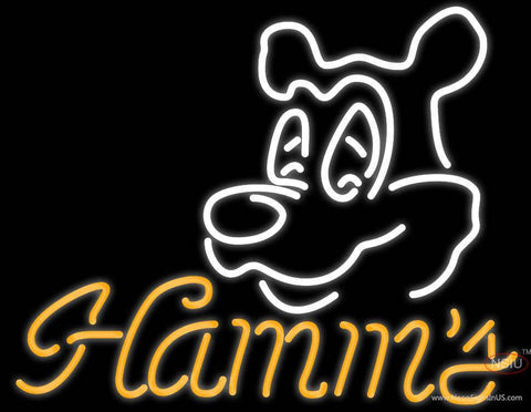 Hamms Bear Neon Beer Sign