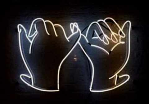 Hands Handmade Art Neon Signs