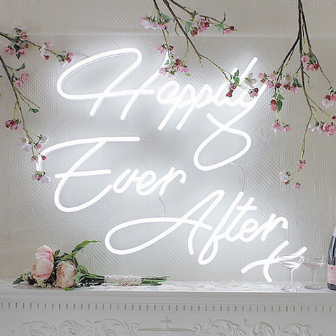 happily ever after neon sign for wedding homemade art neon sign